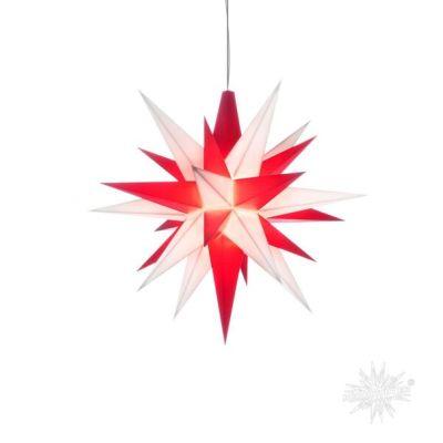 Stern A1e weiss-rot Kunststoff Herrnhuter Stern für innen mit LED | 50245